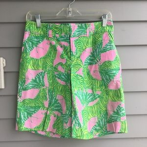 "LILLY PULITZER ""Brazilian Avenue"" Bermuda Shorts"